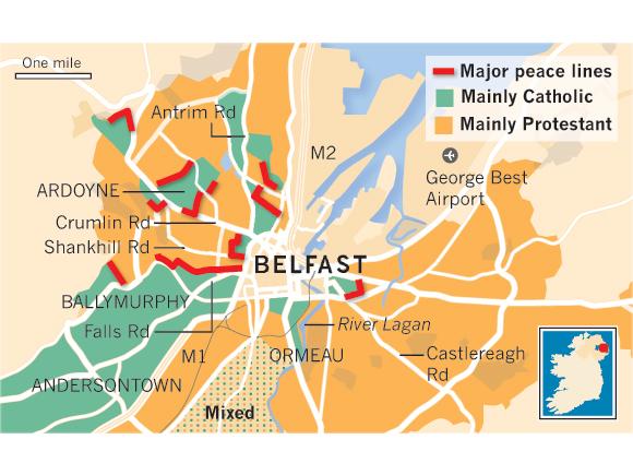 map belfast peace lines prospect