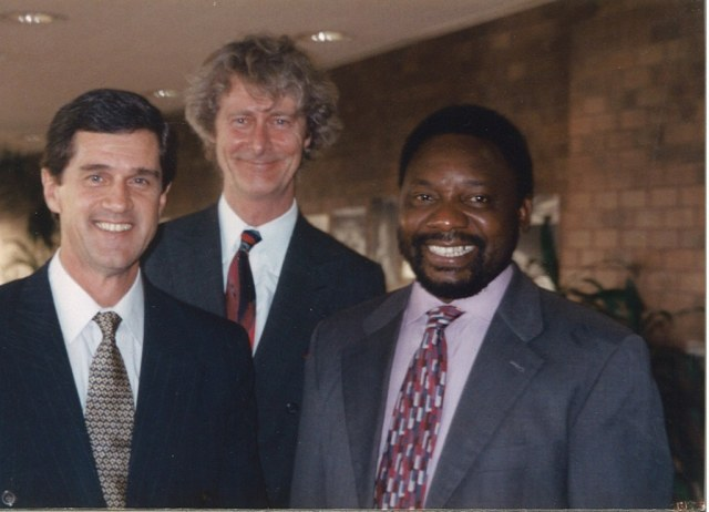 Roelf Meyer, Padraig O'Malley and Cyril Ramaphosa