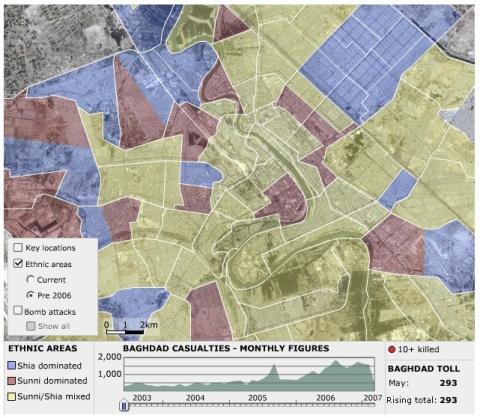 Map BAGHDAD Ethnic 2006