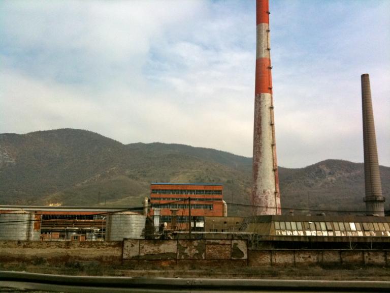 Main Trepca mining complex, now disused. Mitrovica, Kosovo.