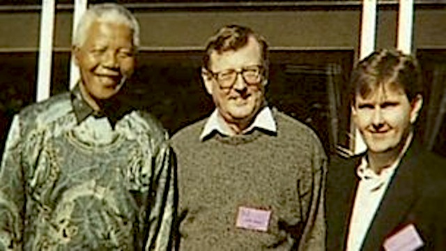 Nelson Mandela, David Trimble and Jeffrey Donaldson
