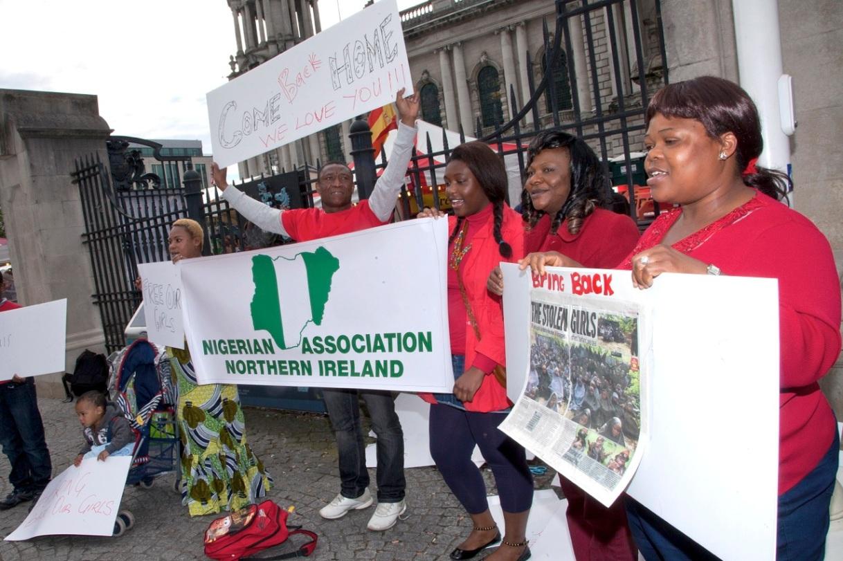 #BringBackOurGirls Belfast protest by Nigerian Association of NorthernIreland