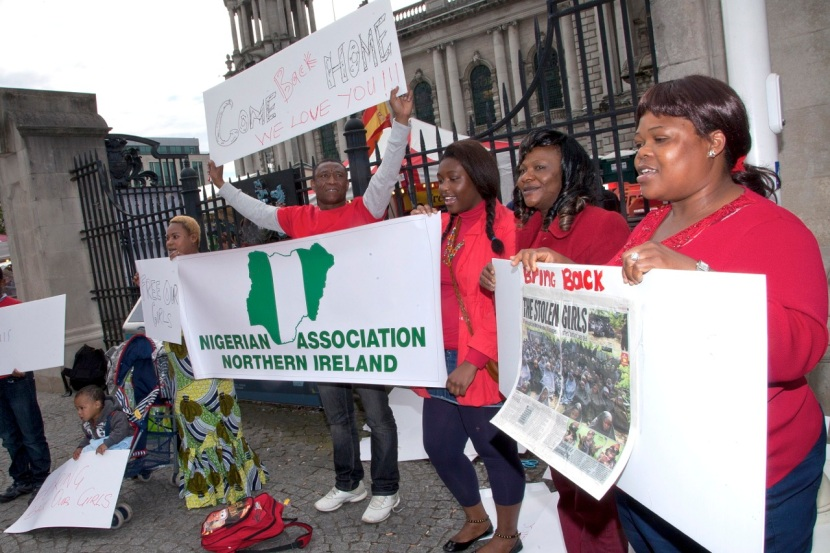 #BringBackOurGirls Belfast protest by Nigerian Association of Northern Ireland