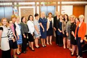Participants at IBIS conference, Women and Leadership North and South; source: IBIS.
