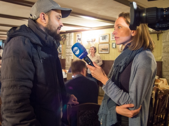 Hussam EESA interviewed by Rada BOGDANOVA (news reporter novatv.bg)